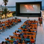 Watch a movie at an air cinema