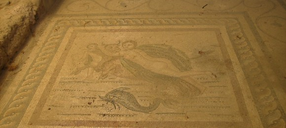Kidnapping of Europe floor mosaic - Ancient market - Kos