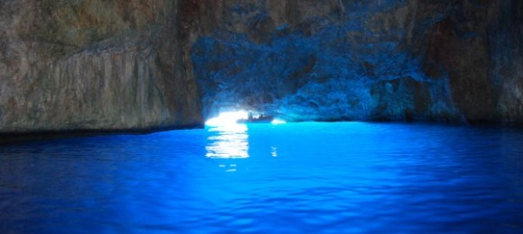 The Blue Cave (also known as Cave of Parasta or Fokiali)
