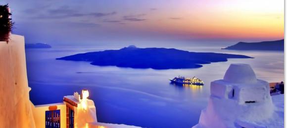 Visit the neighboring Santorini