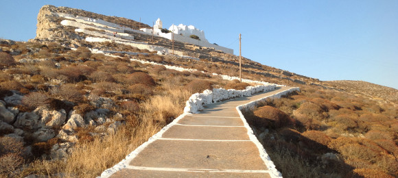 A panoramic view of Folegandros